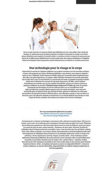 article Fashions Addict - L'épilation définitive pour toutes les peaux - Institut Pyrène