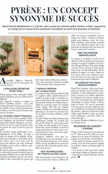 article Nouvelles Esthétiques - Pyrène Epilation Définitive