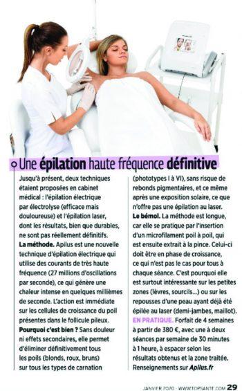 Article Top Santé Epilation Définitive par Haute Fréquence _ Pyrène